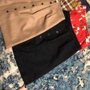 Size 4 Black wool J. Crew flair skirt
